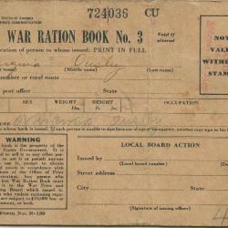 War Ration Book No. 3