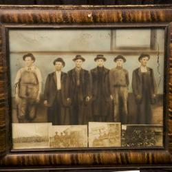 Photographs in frame, Campbell family. ca. early 1900s