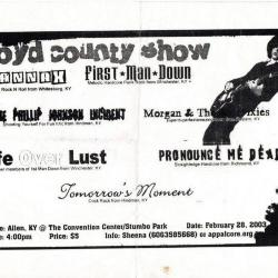 """Youth Bored Flyer, """"Floyd County Show"""""""