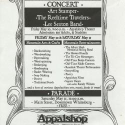Seedtime on the Cumberland Festival poster, 2003