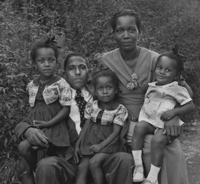 A couple with 3 of their daughters
