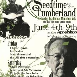 Seedtime on the Cumberland Festival poster, 2007