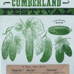 Seedtime on the Cumberland Festival poster, 2004