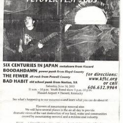 """Youth Bored flyer: """"Flyover Fest 2003"""""""